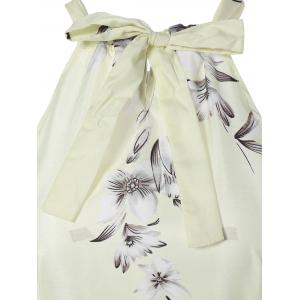 Sweet Sleeveless Floral Tied Dress For Women -