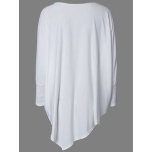 Brief Style Loose-Fitting Batwing Sleeve Tee -