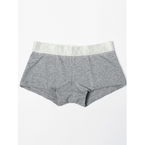 Low Waisted Color Block Black & White & Grey Three Boxers For One Box - COLORMIX L