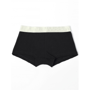 Low Waisted Color Block Black & White & Grey Three Boxers For One Box -