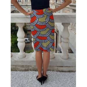 Ethnic High-Waisted Printed Bodycon Women's Skirt -