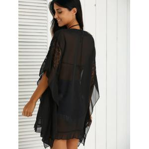 Charming Lace Spliced Loose-Fitting Women's Dress -