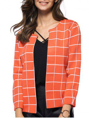 Affordable Preppy Style Plaid All-Matched Jacket