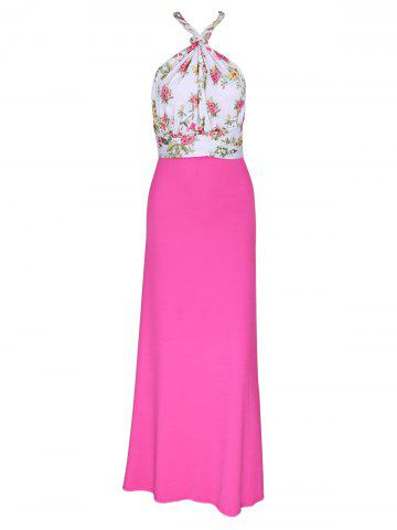 Fashion Ornate Open Back Floral Maxi Dress For Women