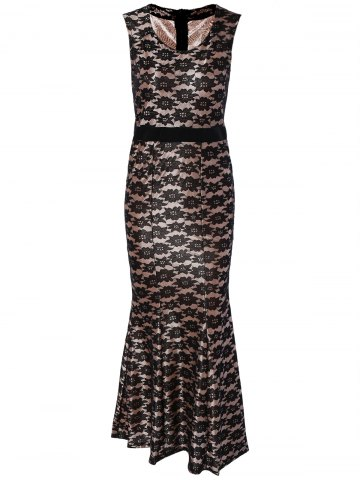 Affordable Charming Sleeveless Lace Mermaid Dress For Women
