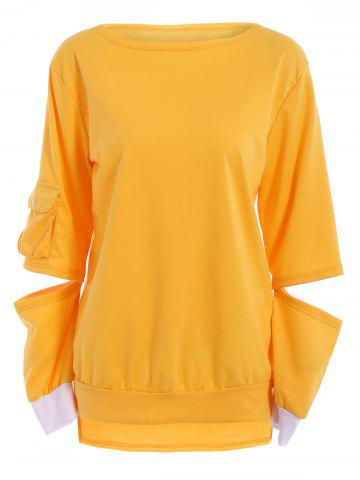 Outfits Stylish Hollow Out Long Sleeve Pullover Sweatshirt For Women