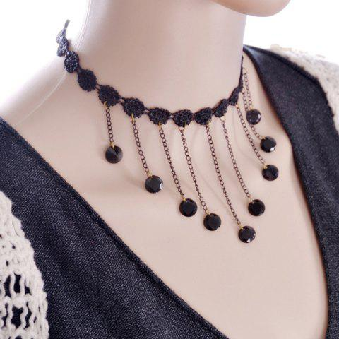 Affordable Flower Lace Beads Choker