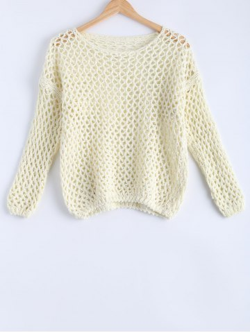 Shop Simple Women's Hollow Out Loose Knitted Top