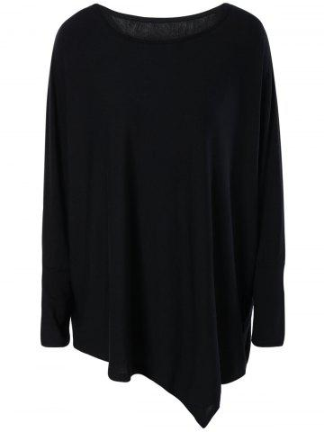 Outfit Brief Style Loose-Fitting Batwing Sleeve Tee