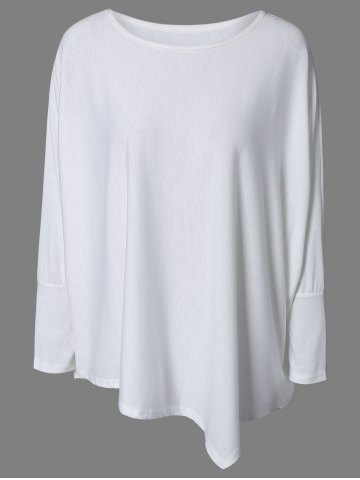 Trendy Brief Style Loose-Fitting Batwing Sleeve Tee