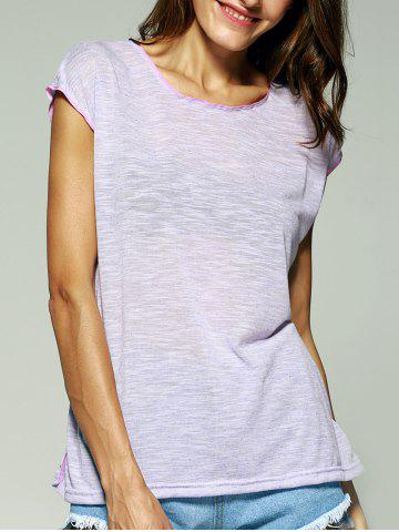 Fancy Trendy Solid Color Furcal T-Shirt For Women