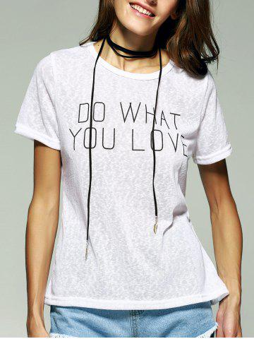 Online Do What Your Love Graphic Tee WHITE XL
