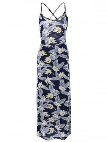 Outfit Alluring Women's Printed Open Back Slit Dress