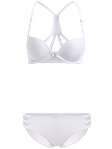 Outfits Front Closure Solid Color Push Up Bra Set