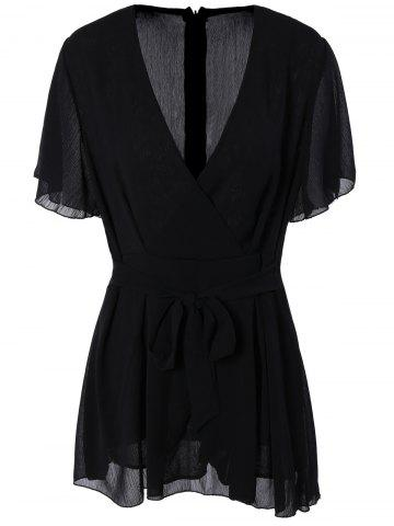 Hot Plus Size Flare Sleeve Romper
