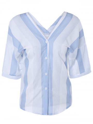 New Casual Striped Oversized Blouse For Women