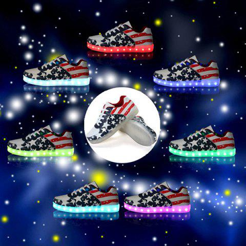 Affordable Luminous Led Shoes Sneakers - 38 COLORMIX Mobile