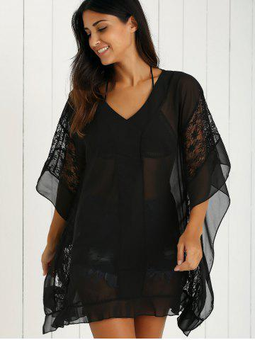 Discount Charming Lace Spliced Loose-Fitting Women's Dress