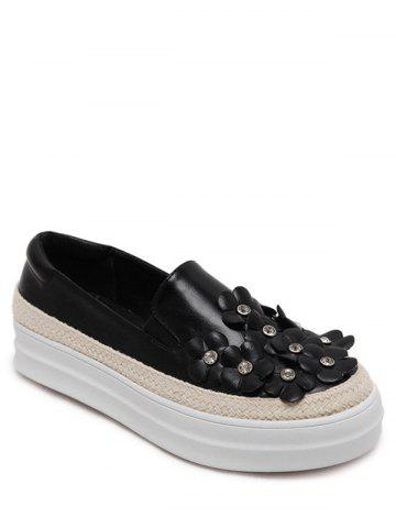 Store Casual Rhinestones and Flowers Design Flat Shoes For Women
