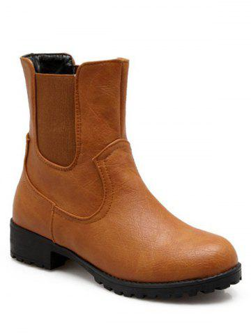 Latest Concise Solid Color and Elastic Band Design Short Boots For Women