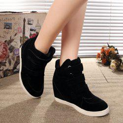 Hidden Wedge Suede Sneakers