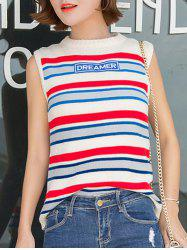 Trendy Striped Color Block Knitwear -