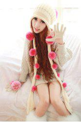 3D Dot Crochet Thick Earflap Hat -