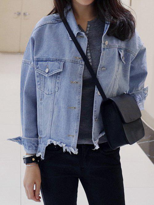 Hot Single-Breasted Beggar Thin Jeans Jacket