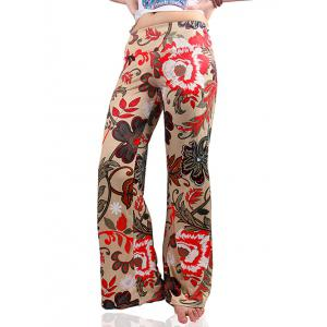 Low-Waist Tropical Floral Print Exumas Palazzo Pants