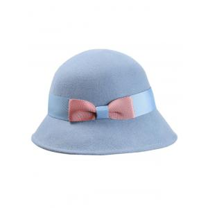 Stylish Bowknot Wool Bucket Hat