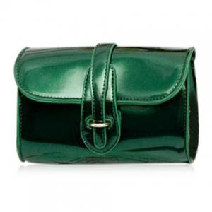 Stylish Buckle and Chain Design Crossbody Bag For Women - Green - Horizontal