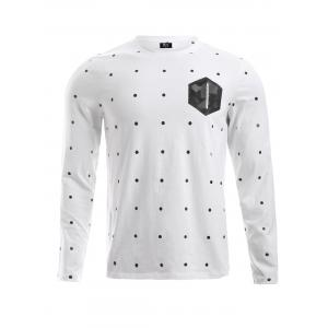 BoyNewYork Dot Geometric Pattern T-Shirt