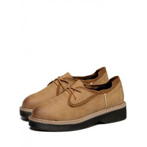 Leisure Tie Up and Splicing Design Platform Shoes For Women -