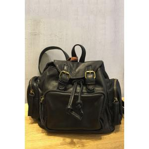 Double Buckles Backpack - Black - 39