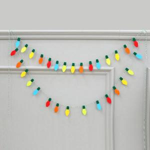 Graceful Birthday Christmas Party Supplies Colorful Felt Bulb - COLORFUL