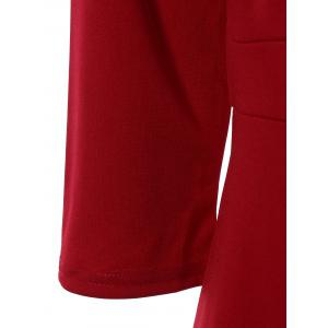 Chic Bowknot Embellished Solid Color Skinny Women's Dress - RED 3XL