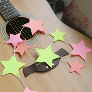 Charming Home Decor Birthday Colorful Hang Star Flag Party Supplies -