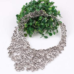A Suit of Irregular Filigree Necklace and Earrings -