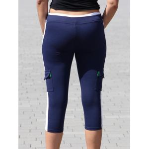 High Waist Color Block Capri Workout Yoga Pants -