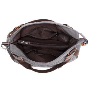 Casual Zippers and Splicing Design Shoulder Bag For Women -