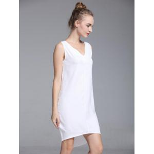 Brief V-Neck Sleeveless High Low Dress For Women -