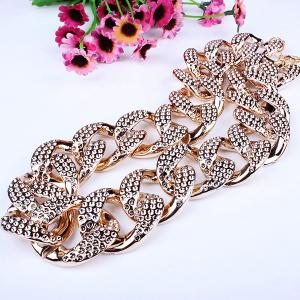 Etched Cuban Chain Statement Necklace -