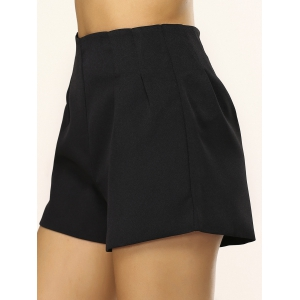 Simple Loose-Fitting Zippered Shorts -