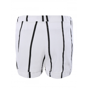 Casual Drawstring Striped Shorts For Women -