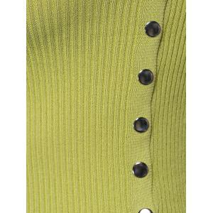 Chic Sleeveless Buttoned Skinny Slimming Women's Knitwear -
