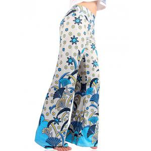 Tropical Floral Wide Leg Exumas Palazzo Pants -