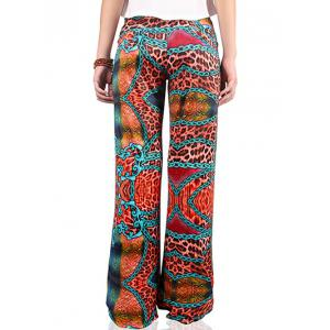 Chic Women's Hit Color Loose Exumas Pants -