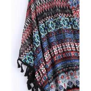 Geometric Print Plunging Neck Cover Up -