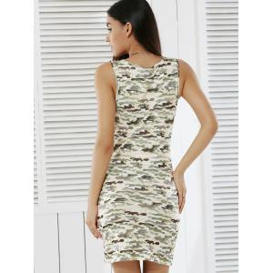 Women's Stylish Camouflage Print Skinny Tank Dress - CAMOUFLAGE L