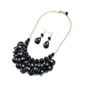 Water Drop Statement Necklace and Earrings -
